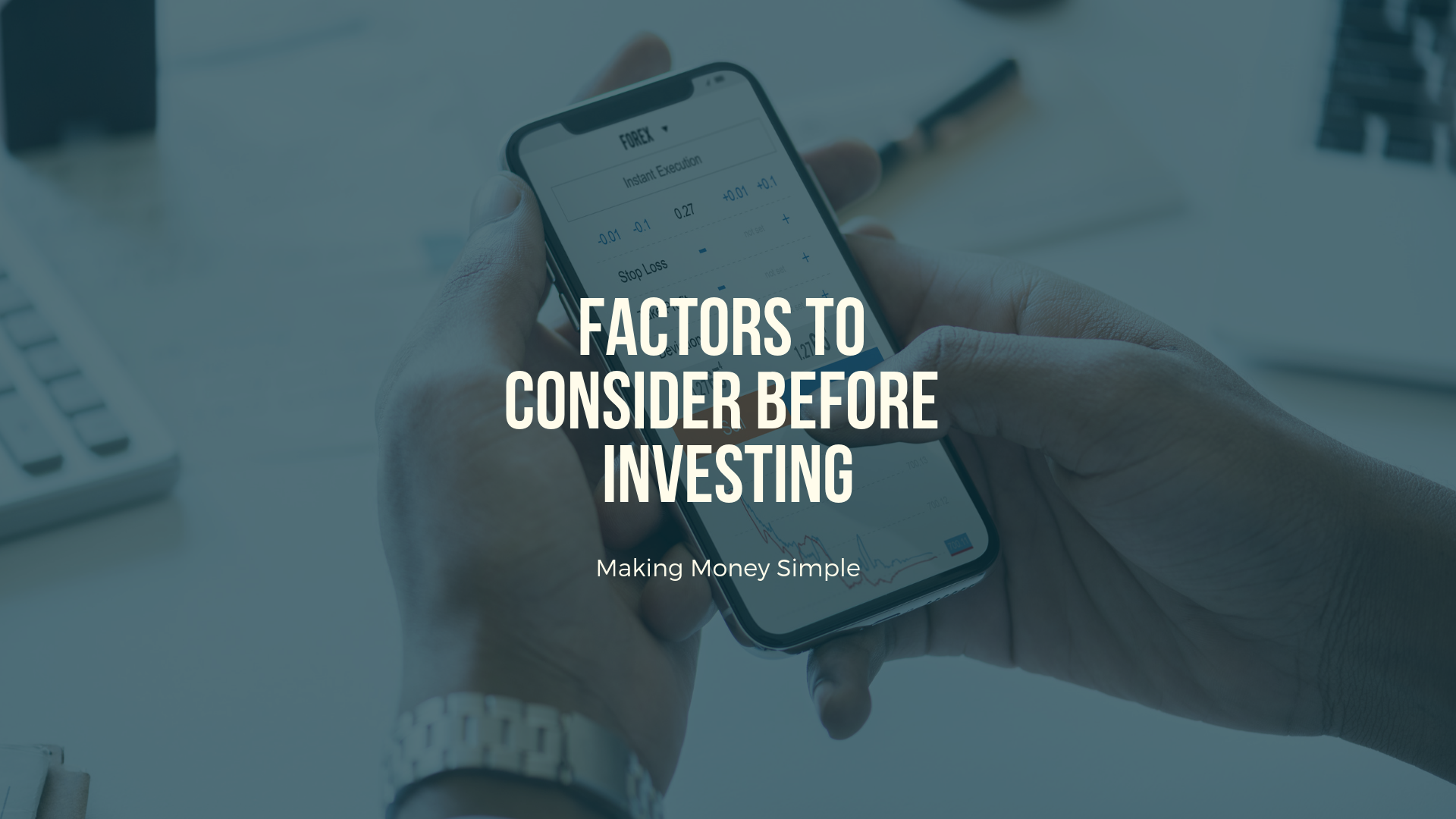 Factors to consider before Investing